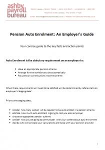 Auto Enrolment Guide